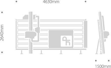 SVP 133 MANUELLE est une scie à panneaux qui sauve d'espace