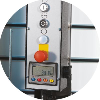 Electrical horizontal measuring display