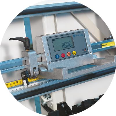Electrical vertical measuring display