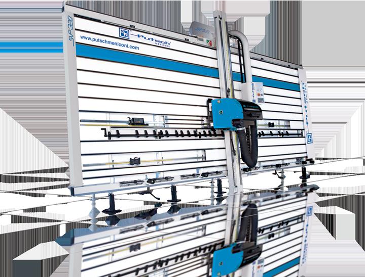 Squadratrice verticale per pannelli