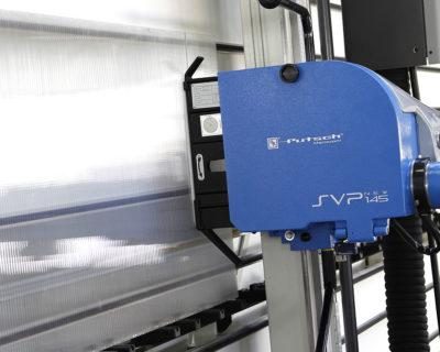 Cutting polycarbonate vertical squaring machine SVP 145 PLUS Putsch Meniconi